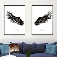 Broken Wing Print Wall Sticker 1pc