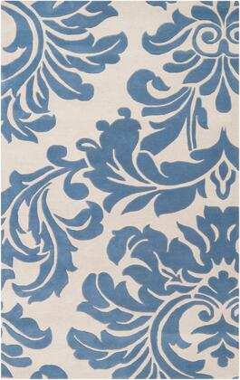 Athena ATH-5076 5' x 8' Rectangle Traditional Rug in Denim