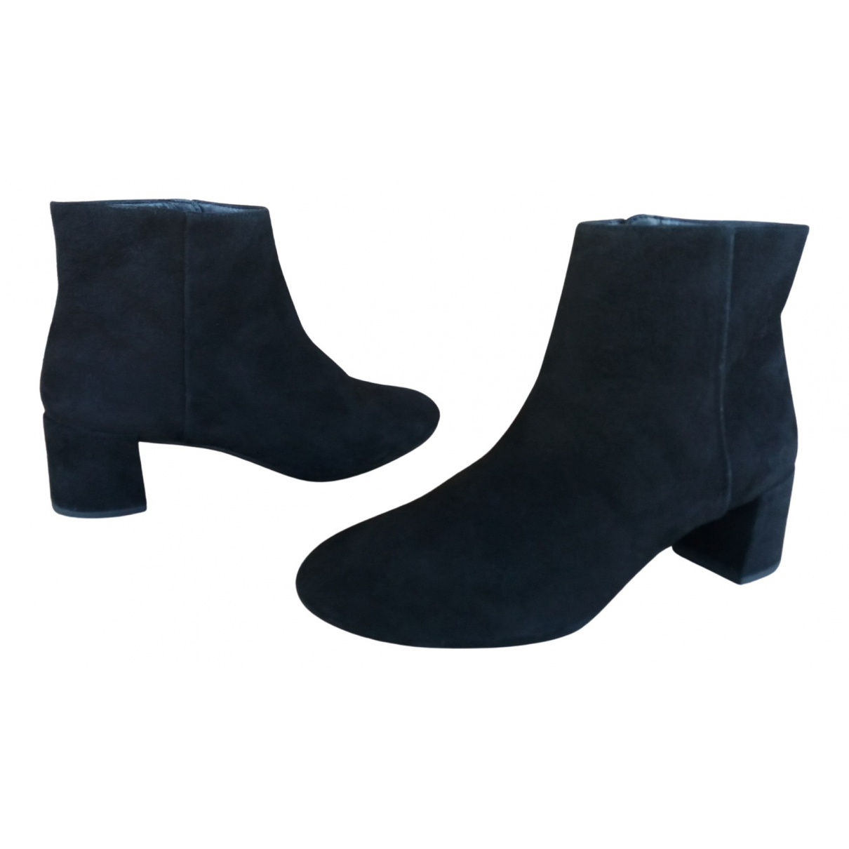 Unisa \N Black Suede Ankle boots for Women 39 EU