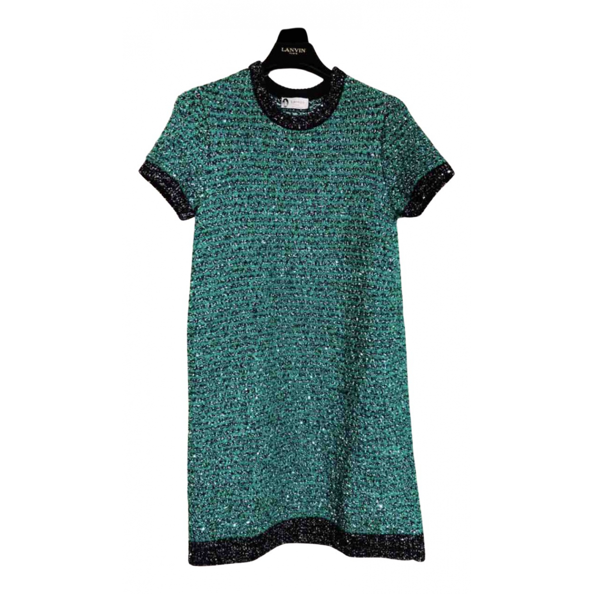 Lanvin N Green Glitter dress for Women 36 FR