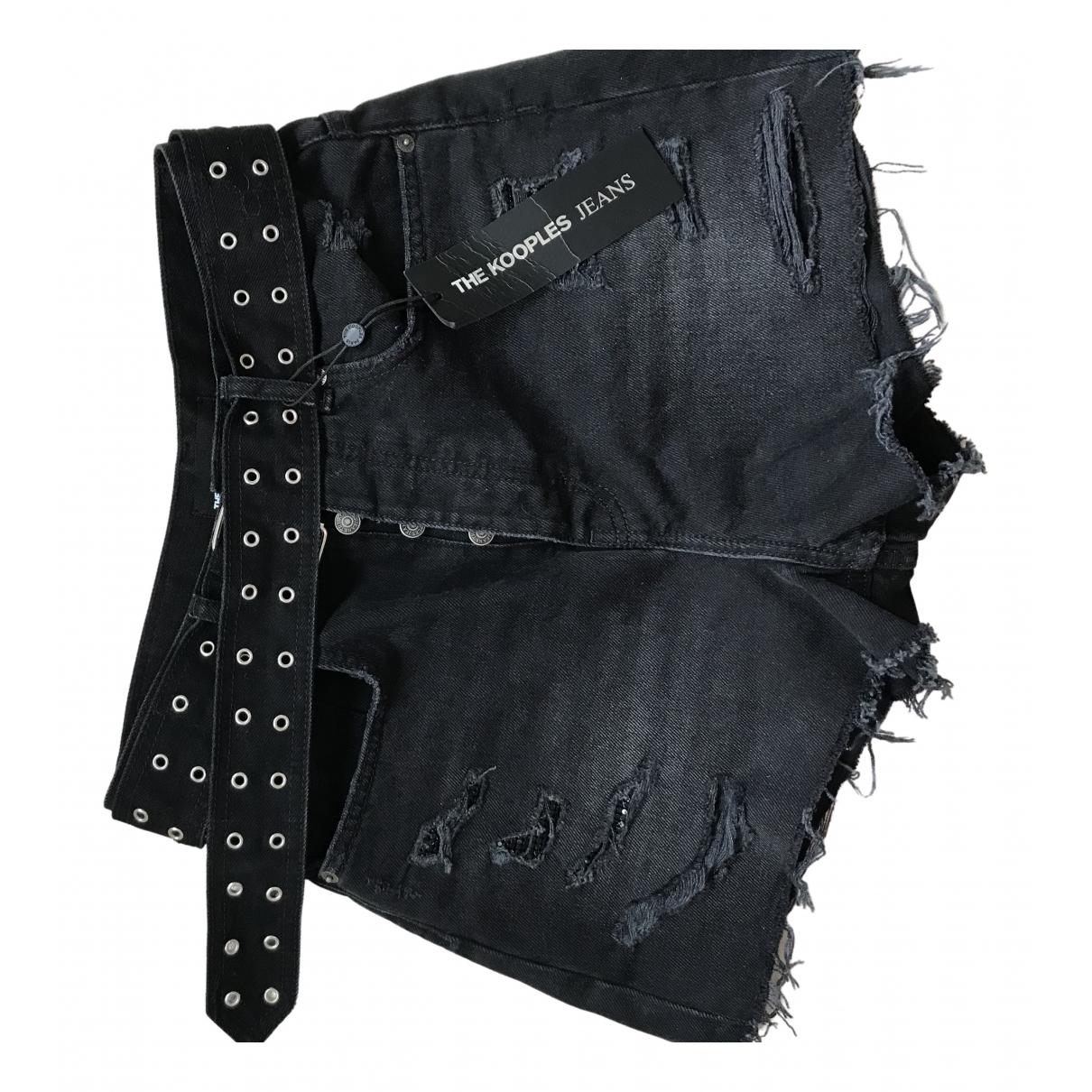 The Kooples Fall Winter 2019 Shorts in  Schwarz Denim - Jeans