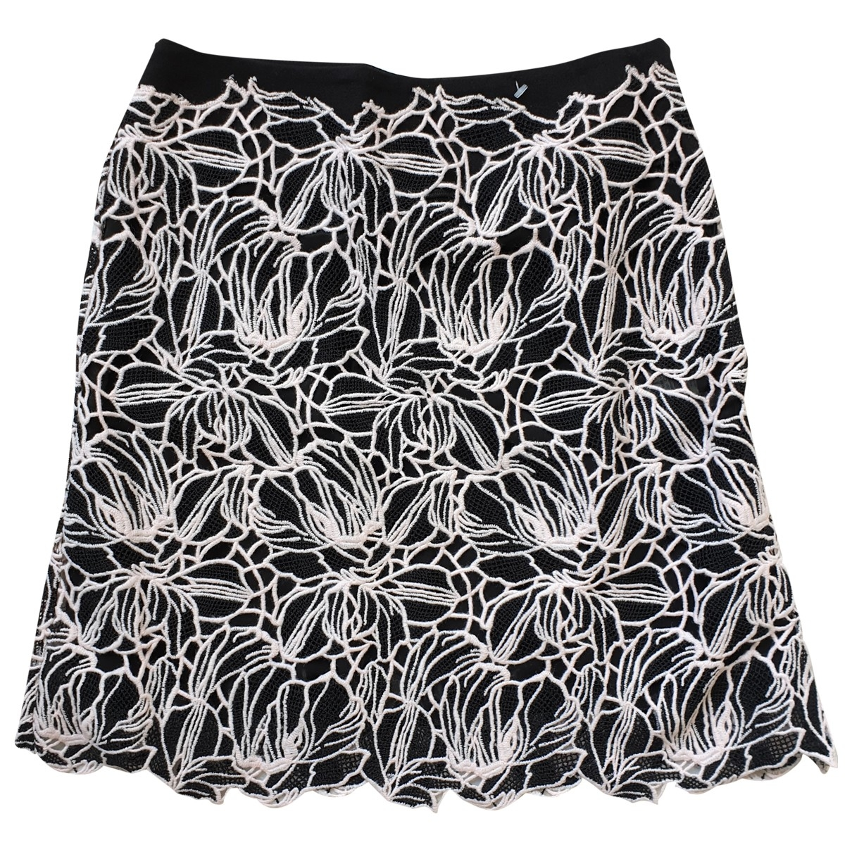 Giambattista Valli \N Black Wool skirt for Women 44 IT