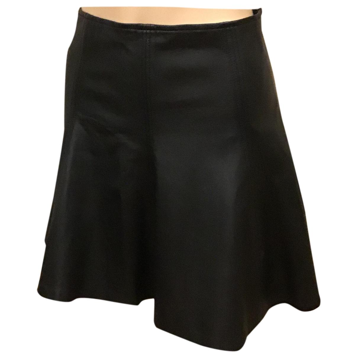 Polo Ralph Lauren \N Black Leather skirt for Women 6 US