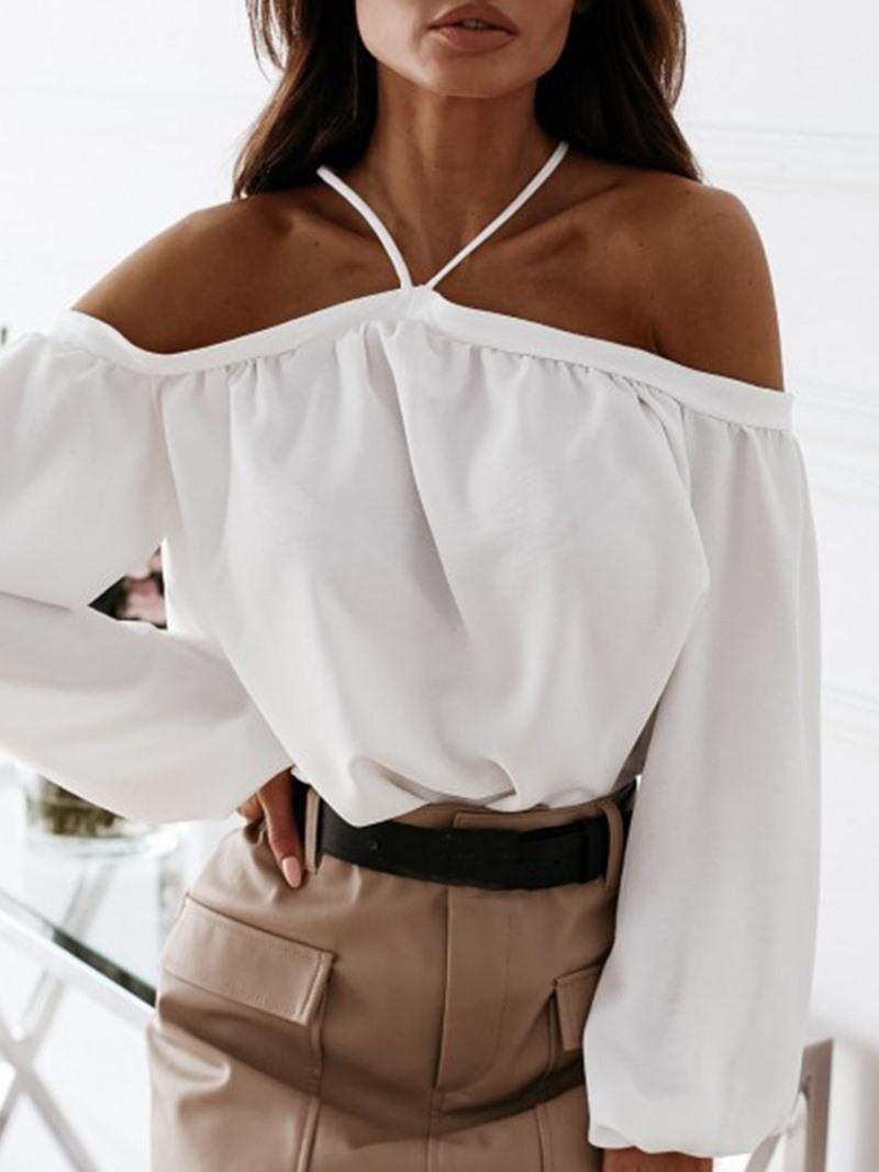 Ericdress Plain Women's Slim Long Sleeve Standard Blouse