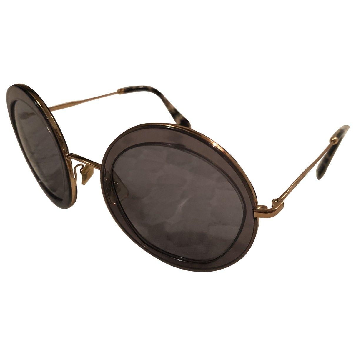 Miu Miu \N Anthracite Metal Sunglasses for Women \N