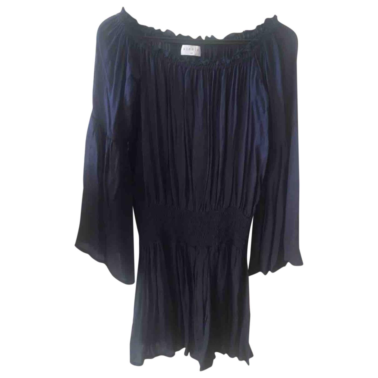 Steele Melbourne \N Kleid in  Blau Viskose