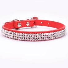 1 pieza collar de perro con diamante de imitacion