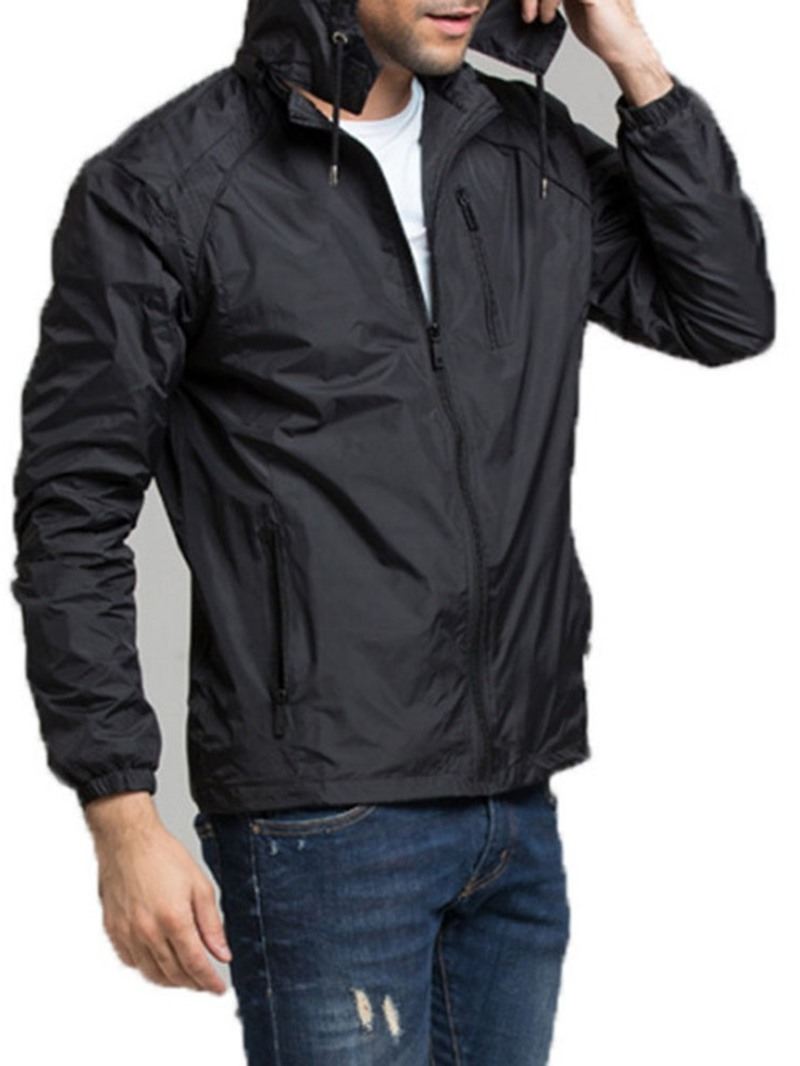 Ericdress Plain Zipper Standard Single Zipper Trench Coat