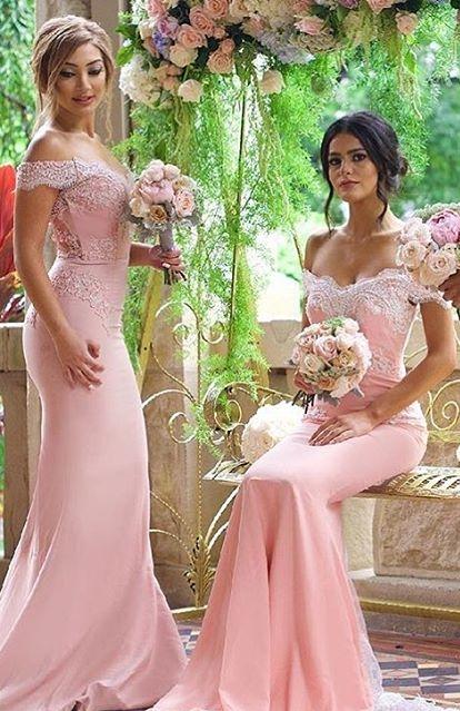 Elegante robe de demoiselle dhonneur longue a manches longues