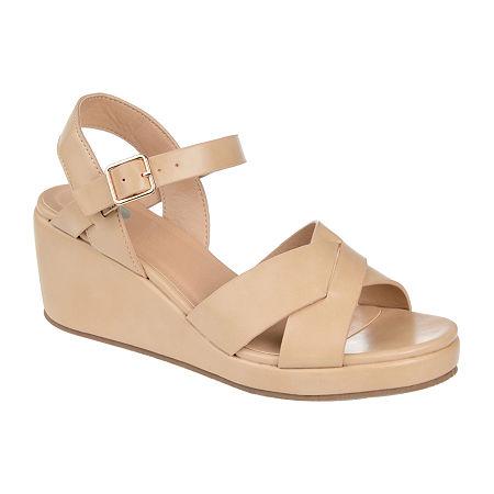 Journee Collection Womens Kirstie Pumps Wedge Heel, 10 Medium, Brown