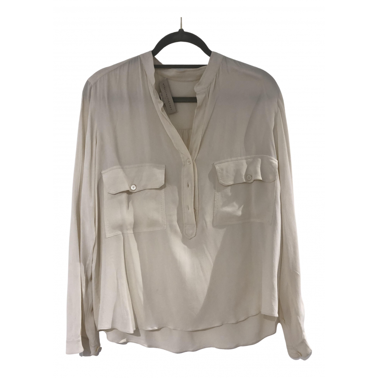 Stella Mccartney \N Top in  Beige Seide