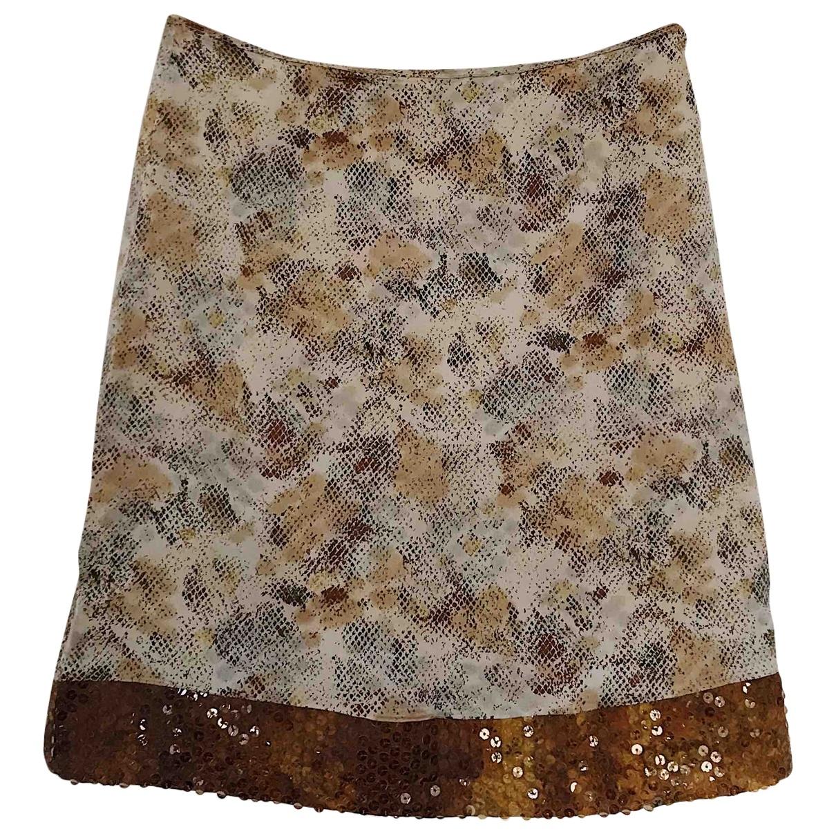Gianfranco Ferré \N Brown Silk skirt for Women 42 IT
