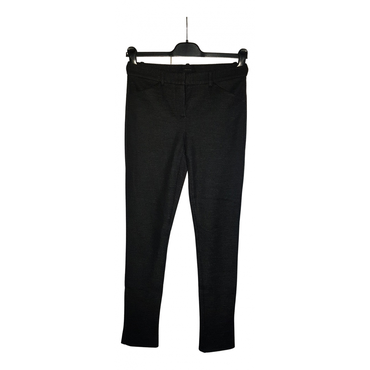 Theory N Anthracite Wool Trousers for Women 2 US