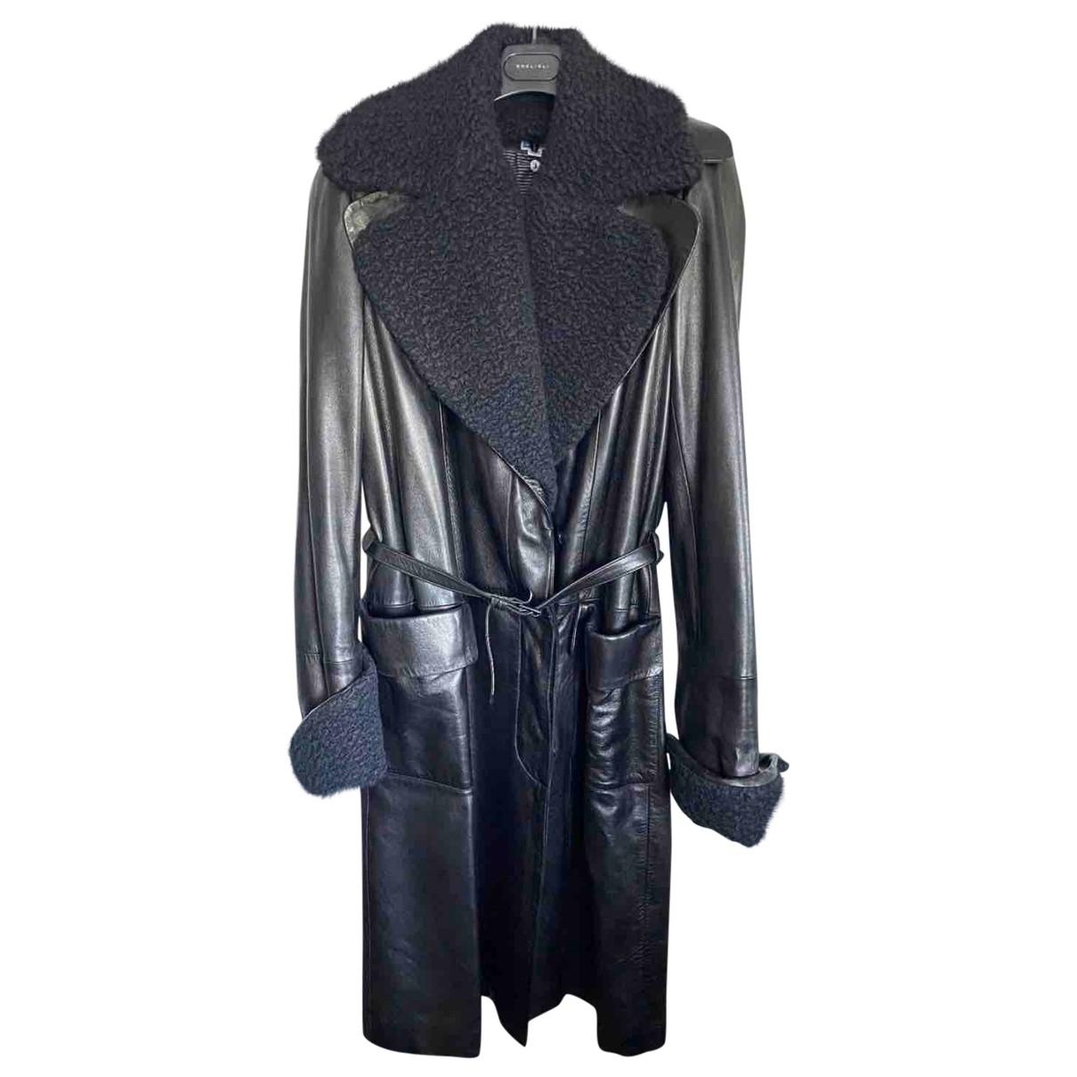 Herve Leger - Manteau   pour femme en cuir - argente
