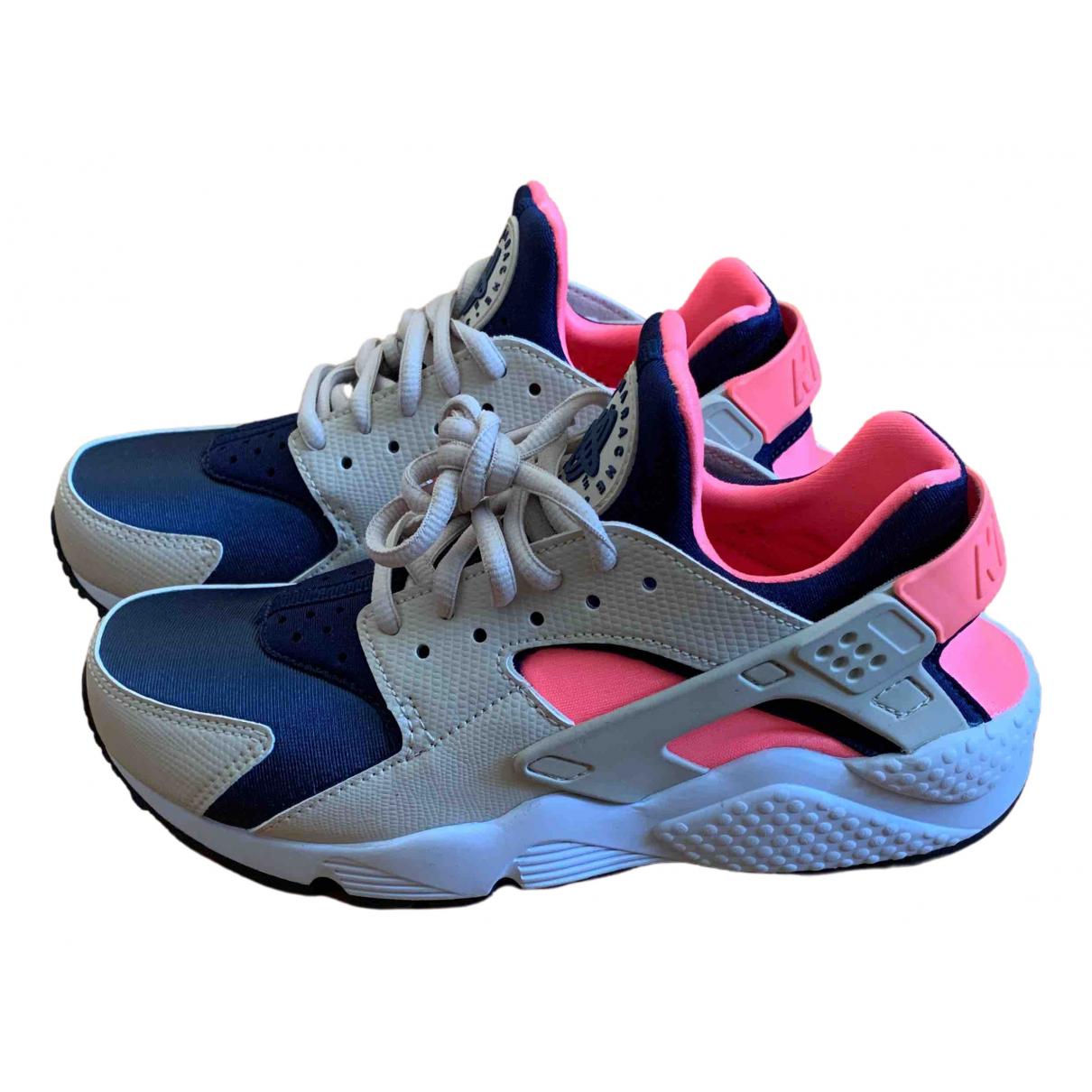 Nike Huarache Sneakers in  Beige Leder