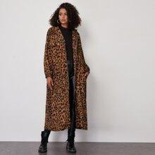 Chaquetas Cremallera Leopardo Casual
