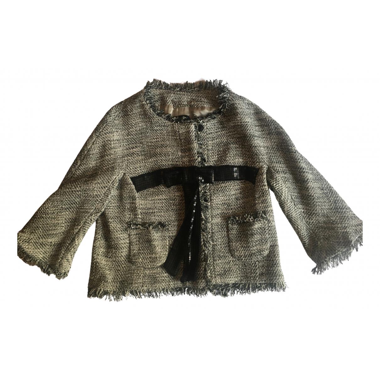 Twin Set - Veste   pour femme en coton - gris