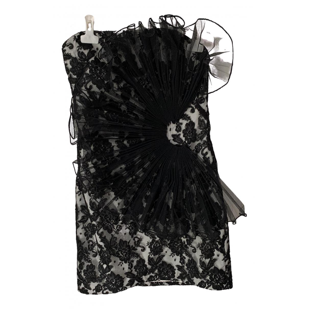 Marchesa Notte \N Kleid in  Schwarz Spitze