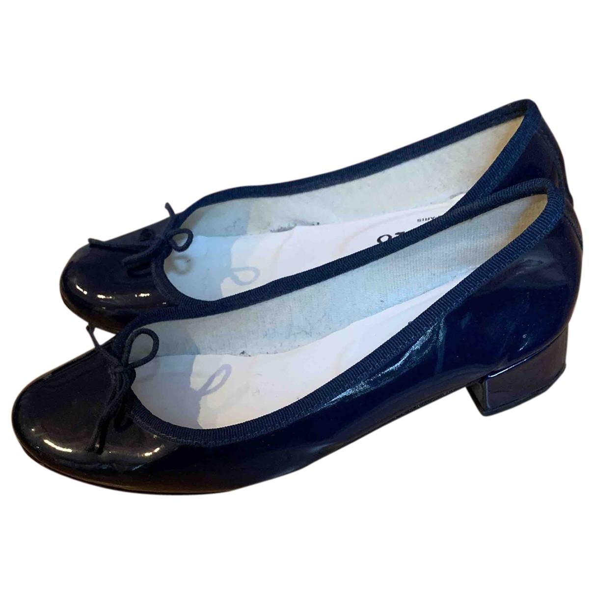 Repetto \N Ballerinas in  Blau Lackleder