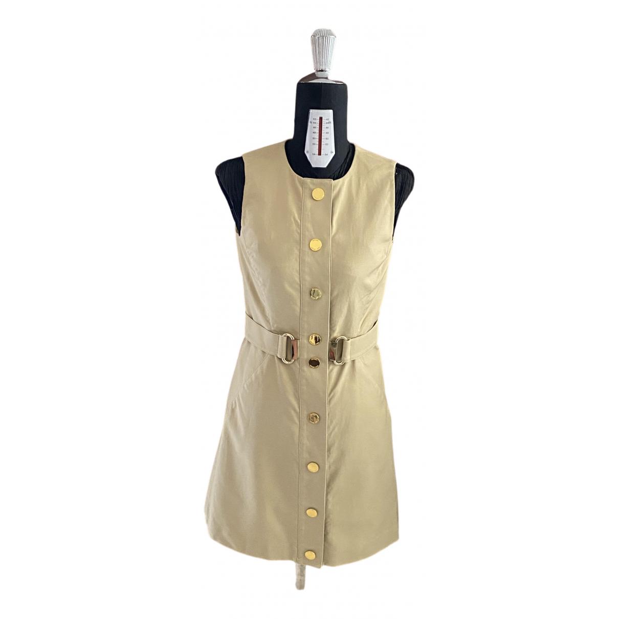 Michael Kors \N Kleid in  Beige Baumwolle - Elasthan