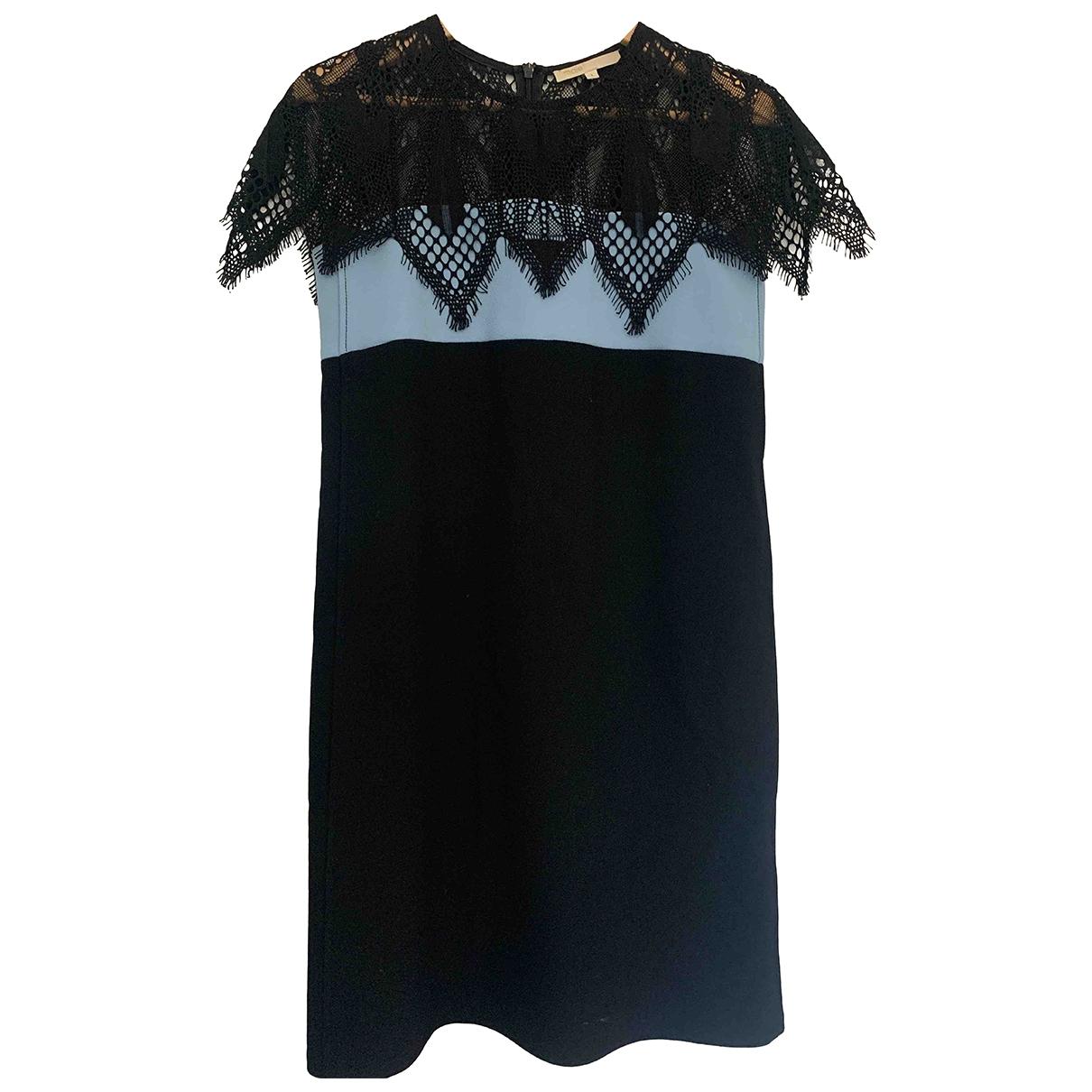 Maje Fall Winter 2019 Kleid in  Schwarz Polyester