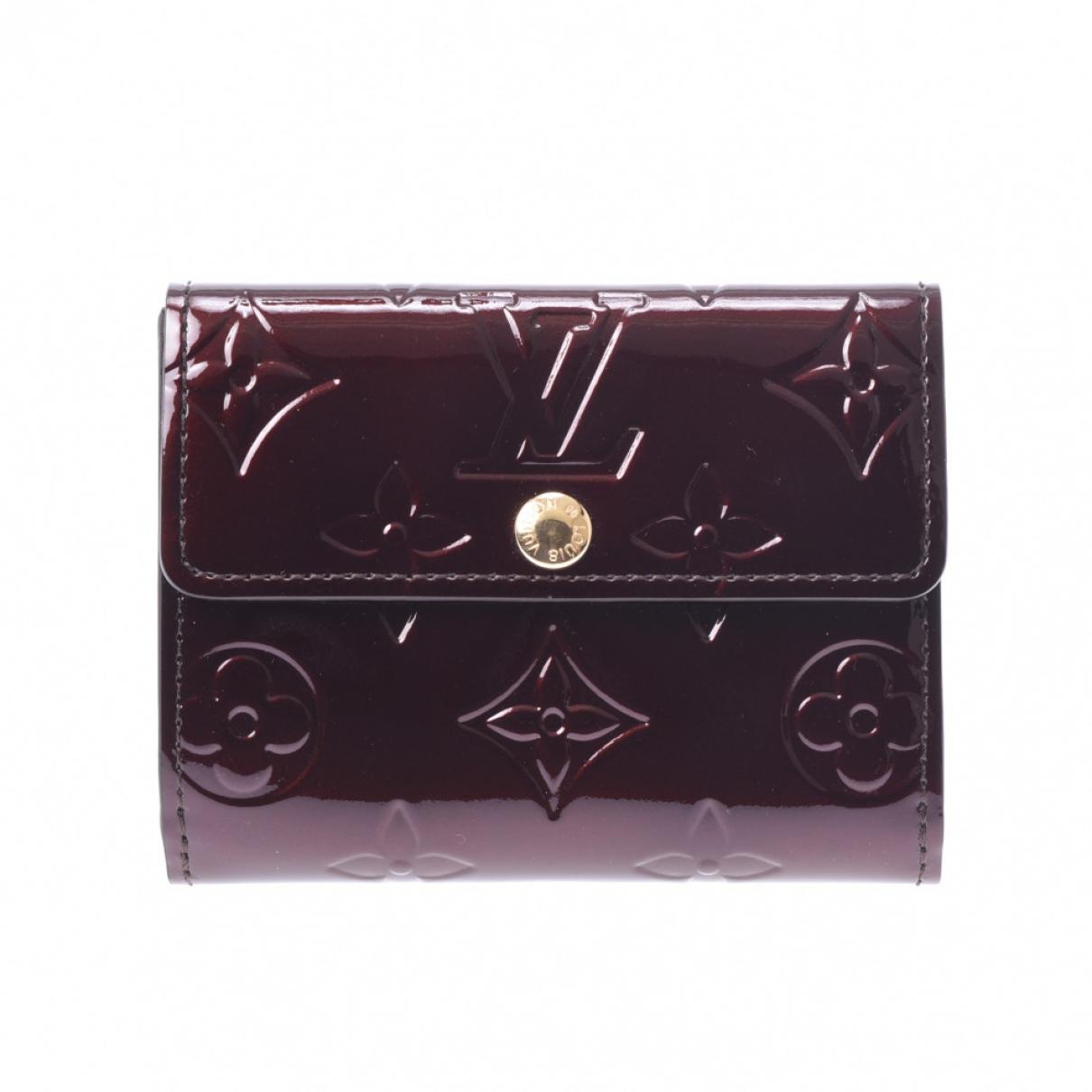 Louis Vuitton \N Kleinlederwaren in  Bordeauxrot Lackleder