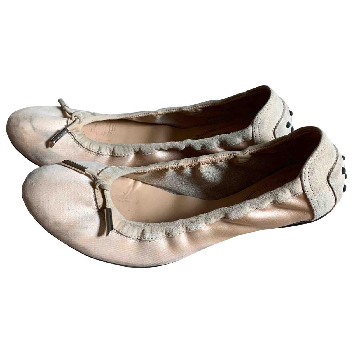 Tods \N Ballerinas in  Rosa Leder