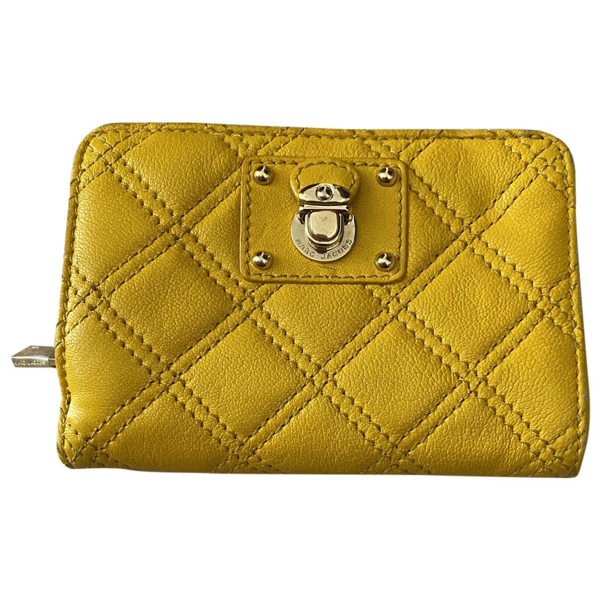 Marc Jacobs - Portefeuille   pour femme en cuir - jaune