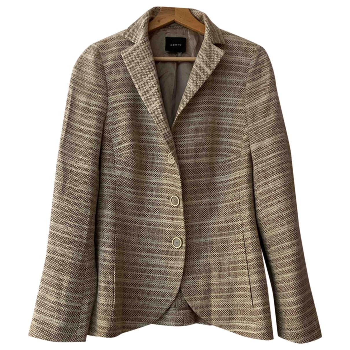 Akris - Veste   pour femme en soie - beige
