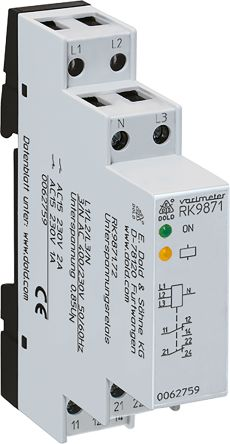 Dold Voltage Monitoring Relay With SPDT Contacts, 400/230 V ac Supply Voltage, 3 Phase