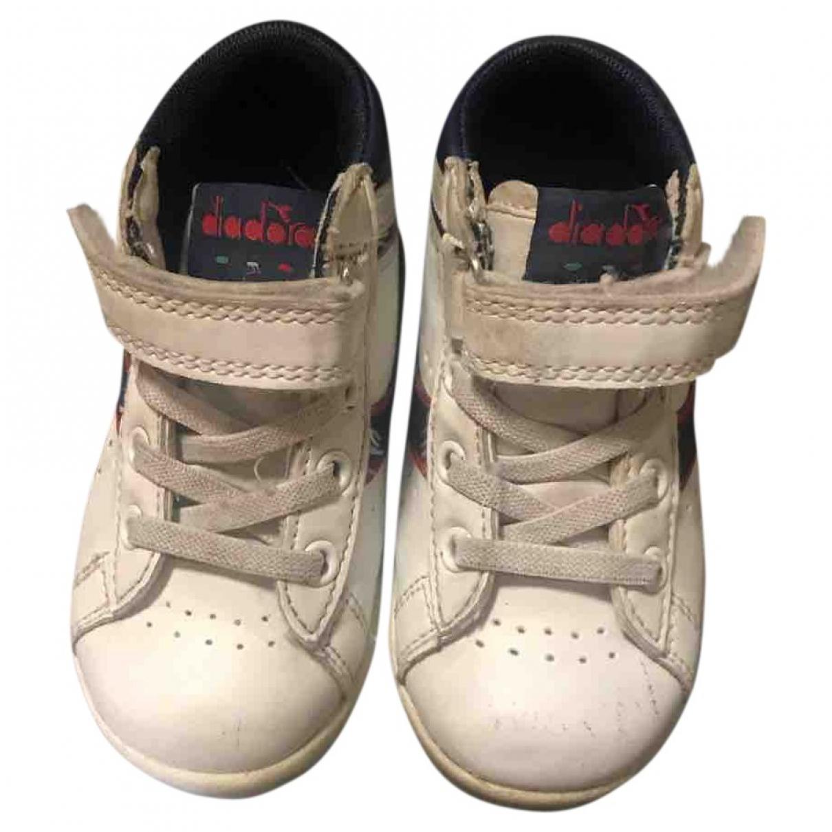 Diadora - Baskets   pour enfant en cuir - blanc