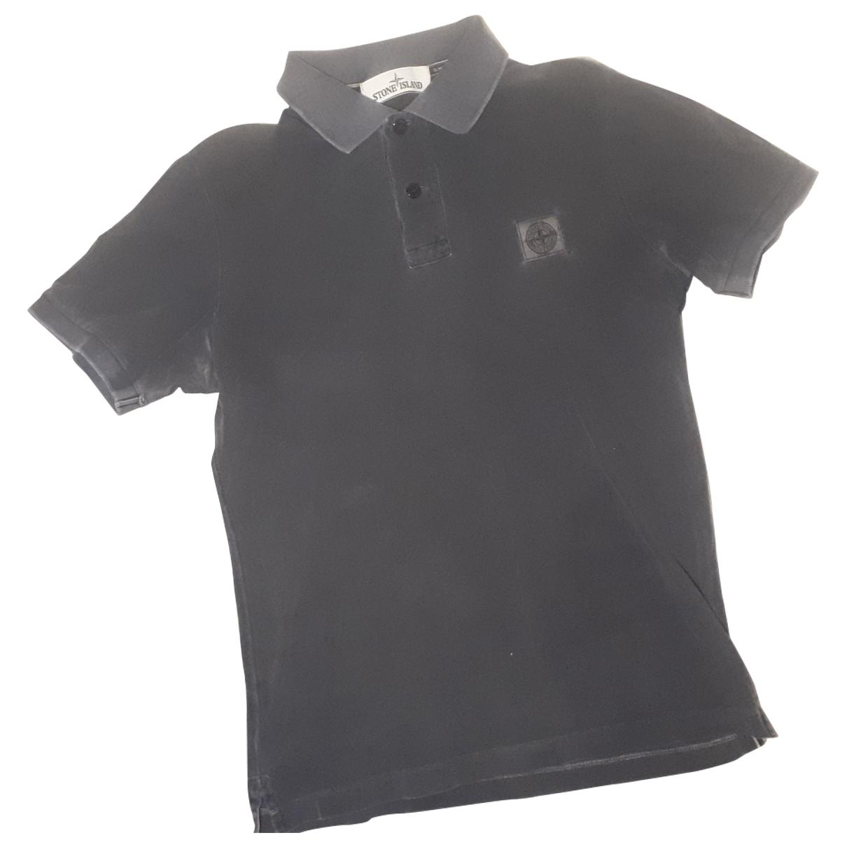 Stone Island - Polos   pour homme en coton - noir