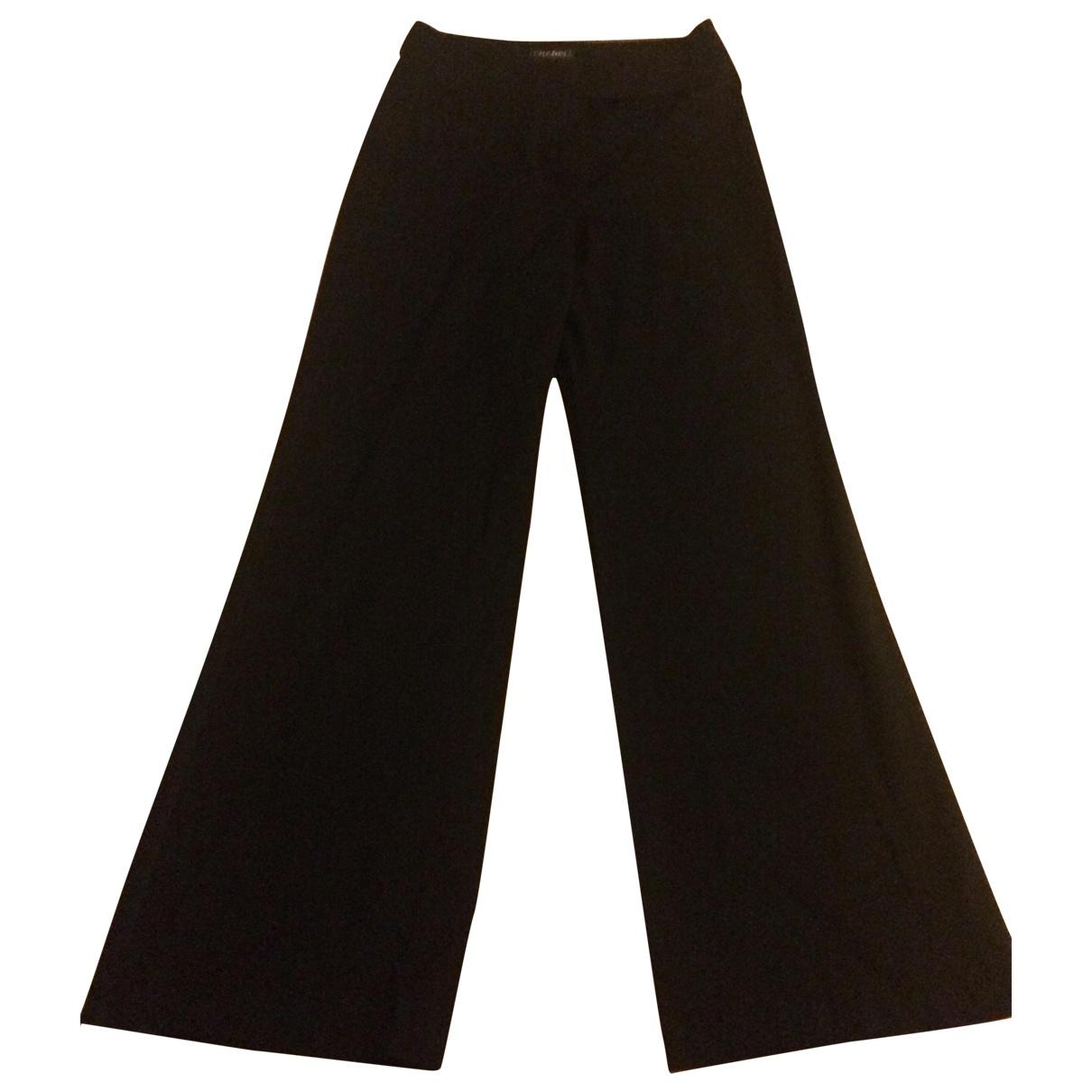 Chanel \N Black Wool Trousers for Women 36 FR