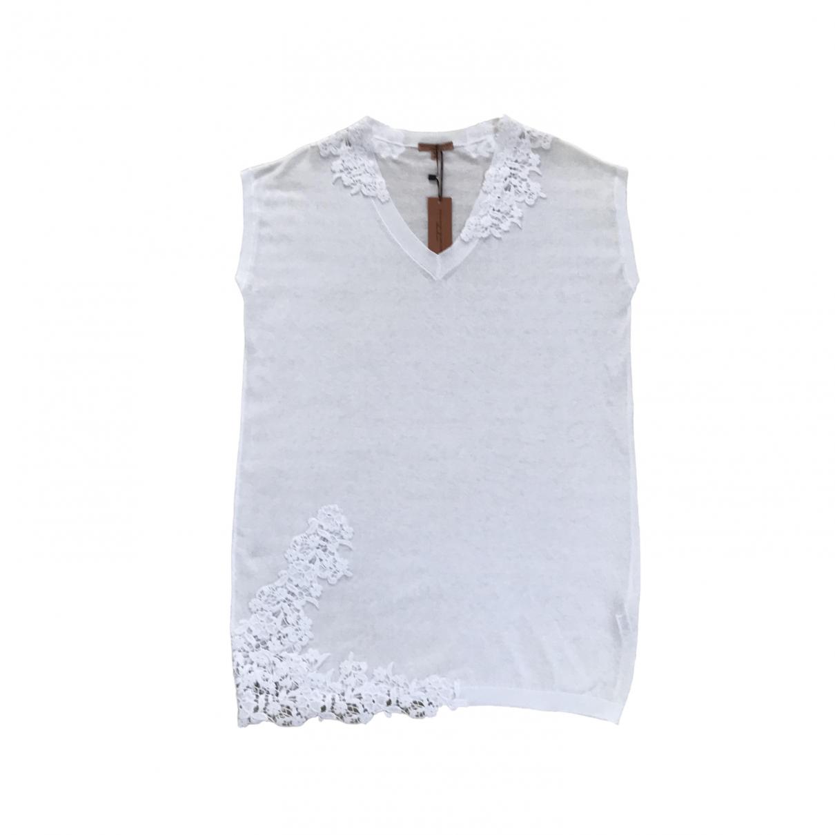 Ermanno Scervino - Top   pour femme en coton - blanc