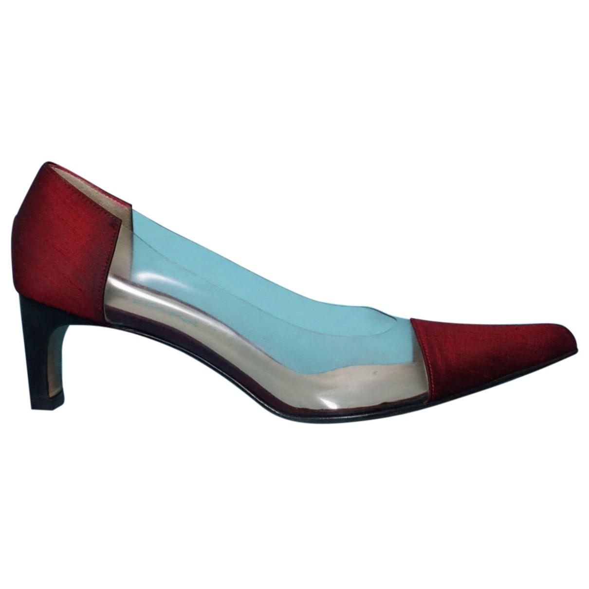 Cartier - Escarpins   pour femme en toile - rouge