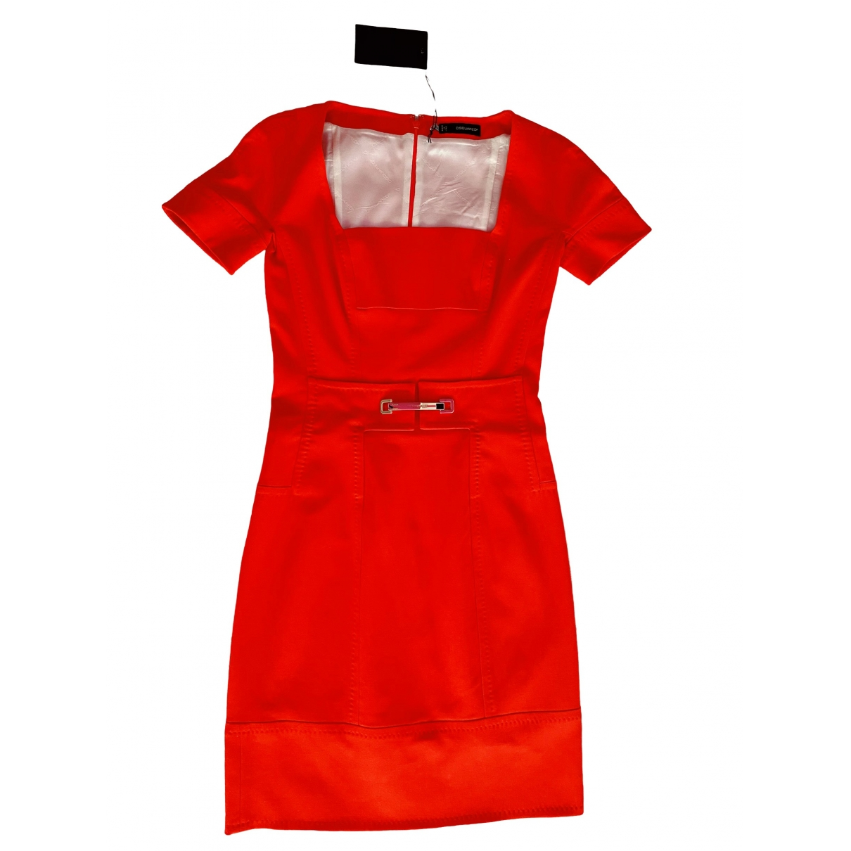 Dsquared2 \N Orange Wool dress for Women 42 IT