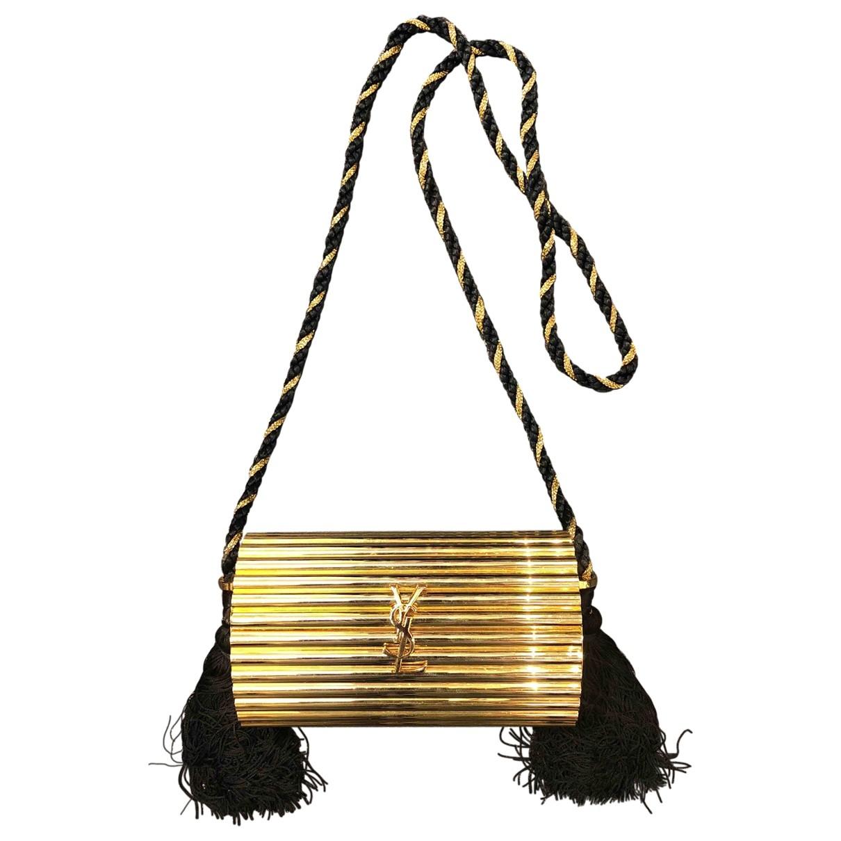 Yves Saint Laurent \N Handtasche in  Gold Metall