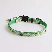 1 Stueck Katze Halsband mit Avocado Muster