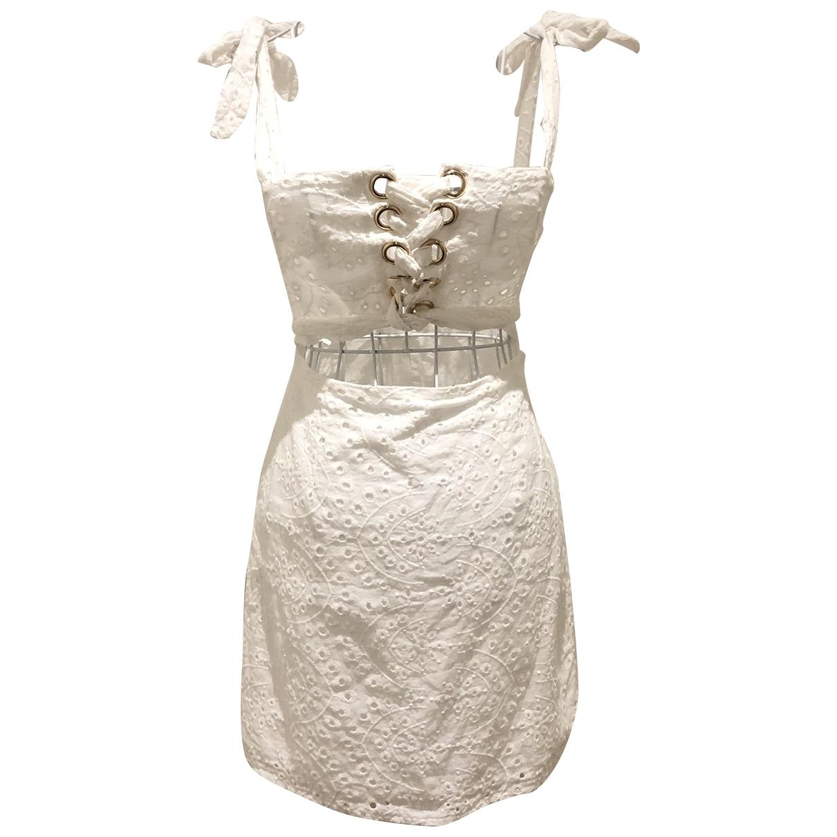 Sabo Skirt \N Kleid in  Weiss Baumwolle - Elasthan