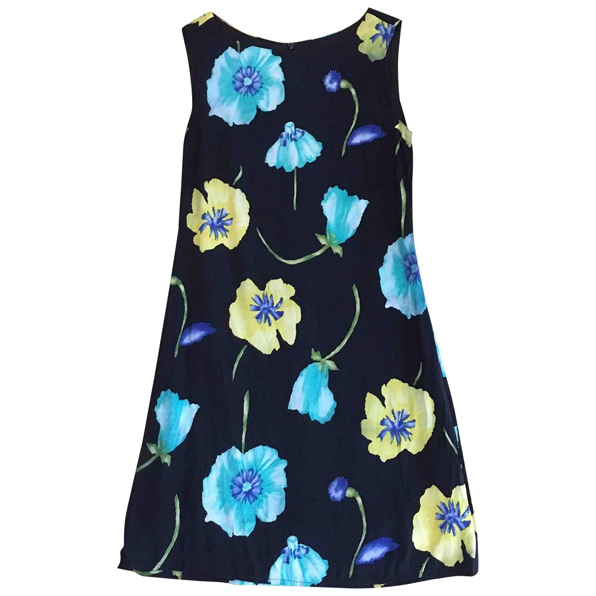 Zara - Robe   pour femme en coton - marine