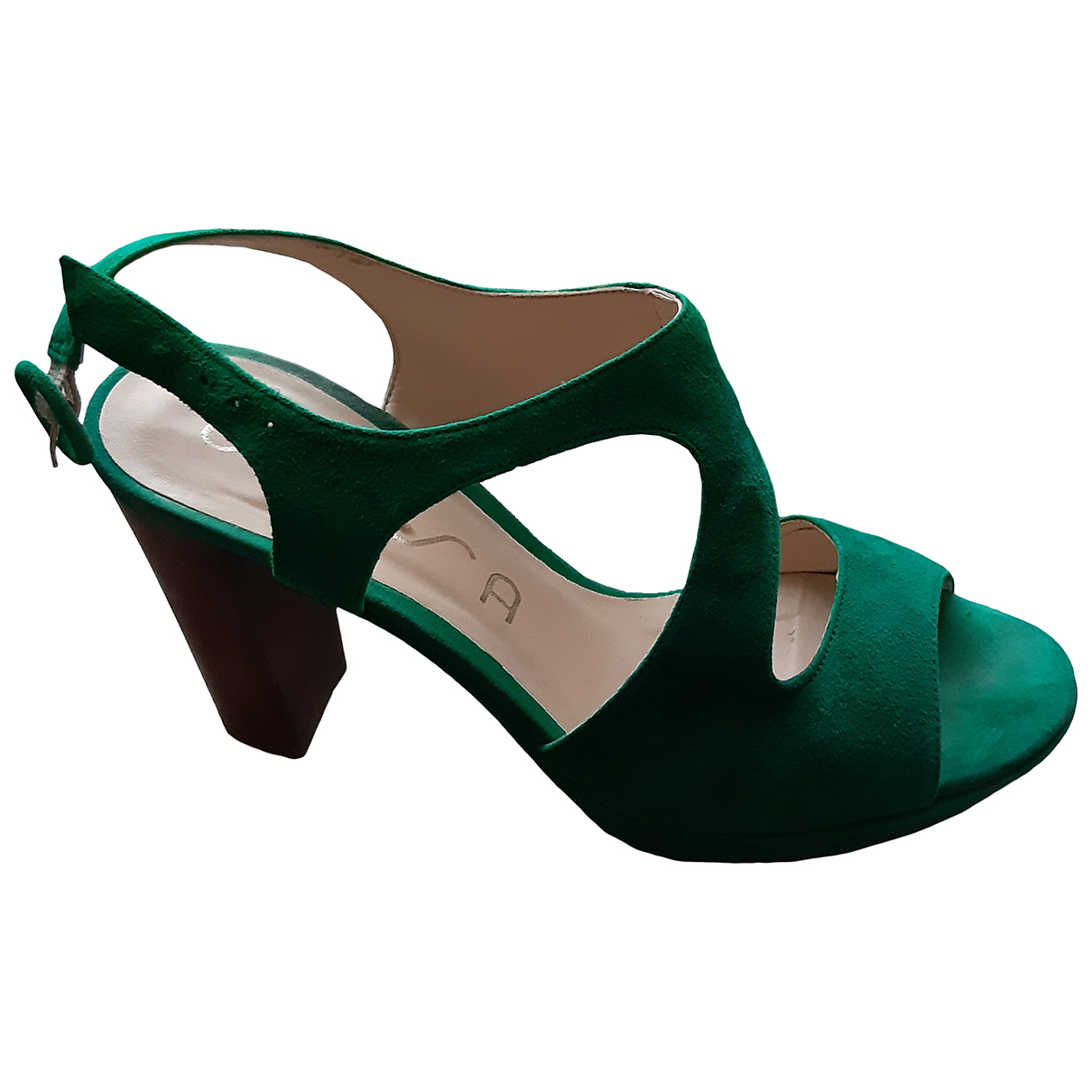 Unisa N Green Suede Sandals for Women 38 EU