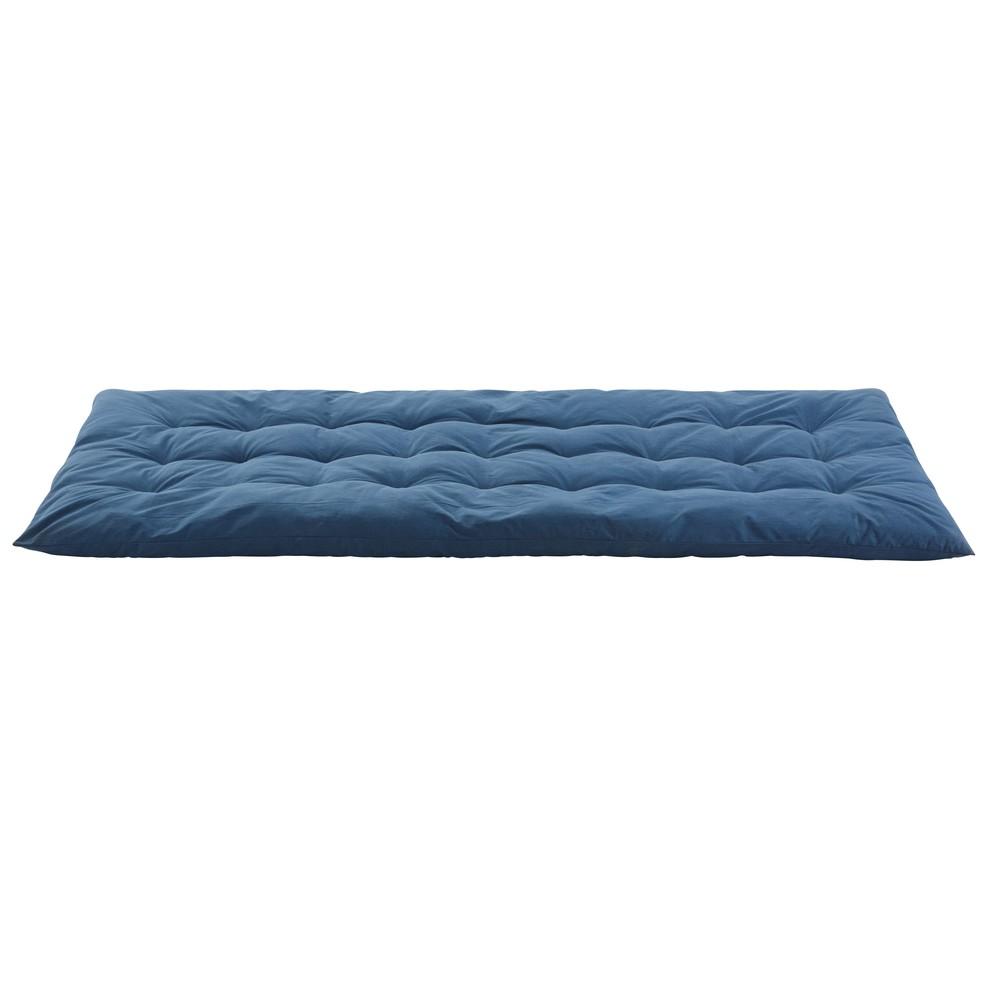 Gaddiposh-Matratze aus blauer Baumwolle 90x190