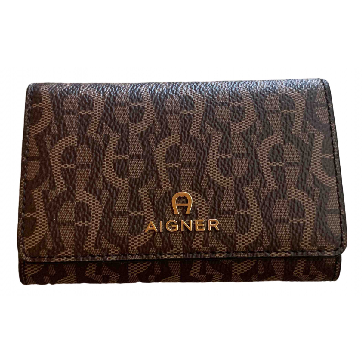 Aigner \N Brown Linen wallet for Women \N
