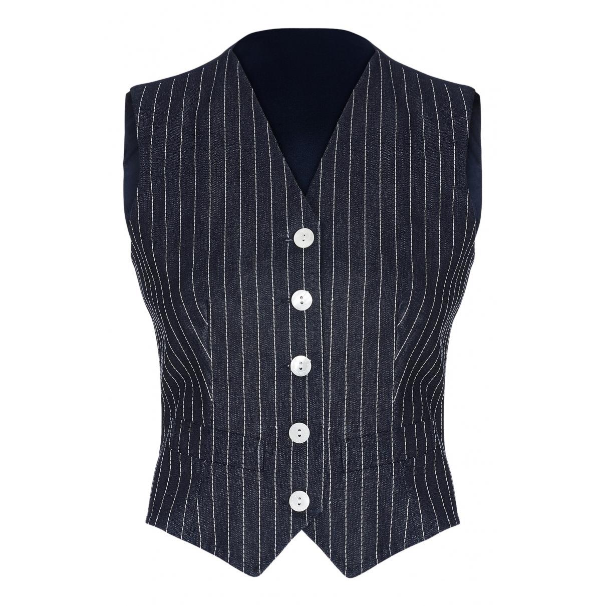 Dolce & Gabbana - Pull   pour femme en coton - bleu