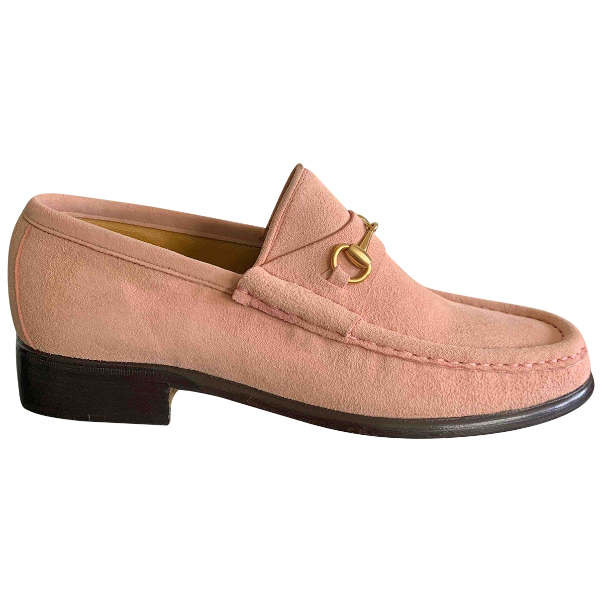 Gucci \N Pink Suede Flats for Women 35 IT