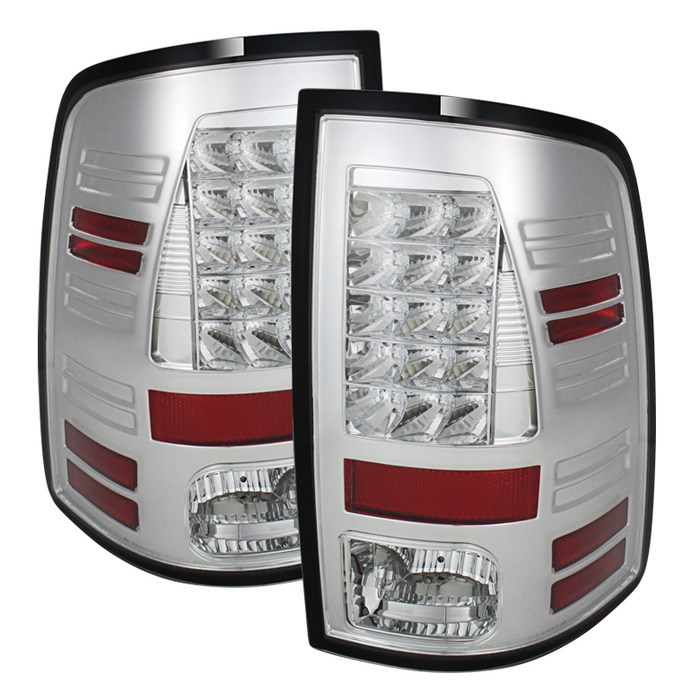 Spyder Auto ALT-YD-DRAM13-LED-C Chrome LED Taillights Dodge Ram 1500 with LED Lights 13-14