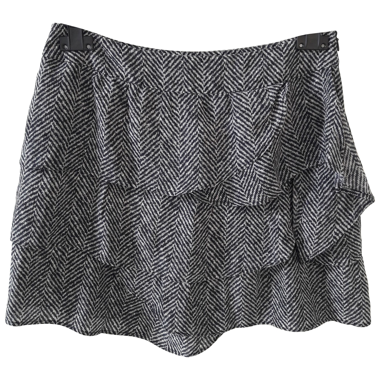 Max & Co \N Anthracite Silk skirt for Women 10 UK