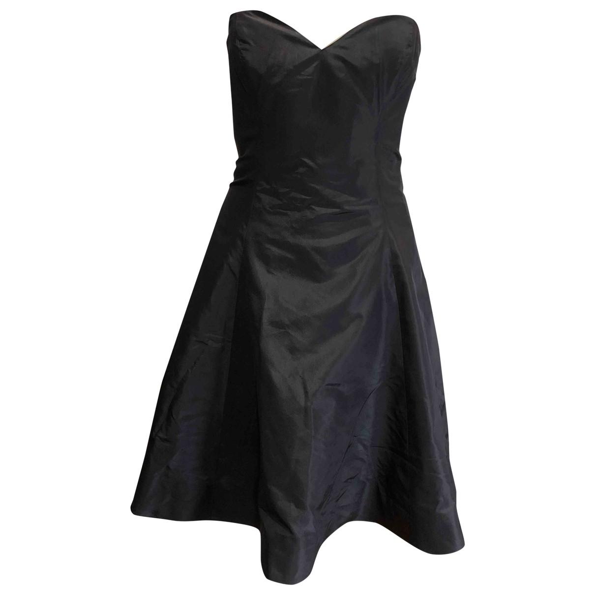 Ralph Lauren \N Kleid in  Schwarz Seide