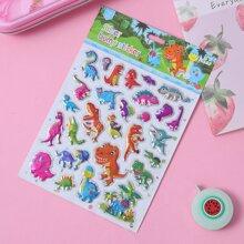 1sheet Cartoon Dinosaur Print Sticker