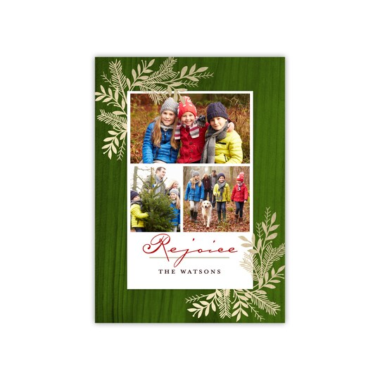 20 Pack of Gartner Studios® Personalized Blessed Branches Flat Holiday Photo Card in Forest   5